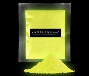 50G Yellow day/ Yellow night GLOW in the Dark Pigment Powder for Crafts Etc.