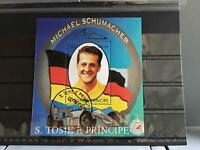S.Tome E Principe Michael Schumacher cancelled stamp sheet R25260