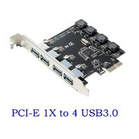 4 Port PCI-E to USB 3.0 HUB PCI Express NEC Expansion Card Adapter 5 Gbps Speed
