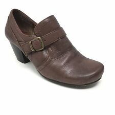 Women's Bare Traps Haydon Booties Clogs Shoes Size 7.5M Brown Leather Buckle B14