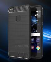 For Huawei P10 Lite Carbon Fibre Gel Case Cover Ultra Slim Shockproof Hybrid