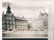1940 City Hall Guildhalls Grote Markt Antwerp 1940s Belgium  Press Photo