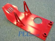 RED SKIDPLATE PIT DIRT BIKE UNDER FRAME PLATE XR50 CRF50 XR SDG 110 125 H SP02