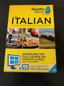 Rosetta Stone Learn Italian Full course download plus 24 month online access