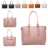 Ladies Faux Leather Bucket Handbag Girls College Shoulder Bag Tote Bag MA36555