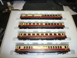 4 Roco TEE Personenwagen auf Trix Express umgebaut     Gebraucht.