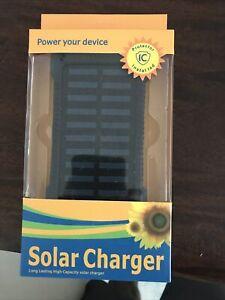 Battery Power bank Solar Charger 5000 MAH Portable Wateproof  Dual USB Battery