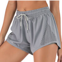 Summer Women Casual Running Sports Breathable Shorts Yoga Gym Lace-up Hot Pants