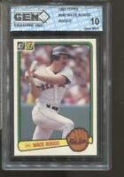 1983 Donruss #586 Wade Boggs Gem Mint 10 RC Rookie Boston Red Sox