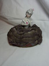 Antique German Porcelain Half Doll Candy Container #CB
