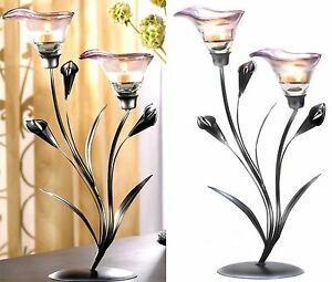 "Art Deco 15"" CALLA LILY CANDLEHOLDER DISPLAY ** NIB"