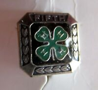 NEW ON CARD STERLING SILVER  4-H fifth 5th YEAR pin