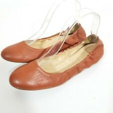 J.CREW Emma Italy Women's Sz 8 Leather Brown Ballet Flats EUC X1