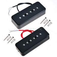 2pcs Black Guitar Bridge And Neck Pickup For GB P90A Soap Bar Pickup replacement