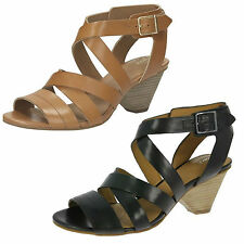 Clarks Block Ankle Straps Shoes for Women