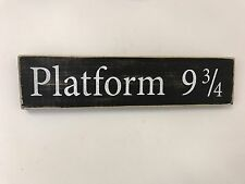 Free Standing/Wall Hung Harry Potter Themed Wooden Sign/Plaque 'platform 9 3/4'