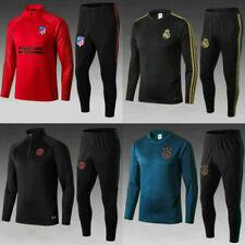 19-20 Kids Boys Football Training Suit Soccer Tracksuit Sportswear New