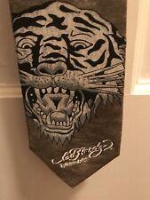 Ed Hardy Green Tiger Tattoo Silk Tie New