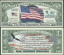 Lot of 25 Bills - AMERICAN FLAG w PLEDGE OF ALLEGIANCE UNITED STATES BILLS