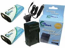 2x Battery +Charger +Car Plug +EU Adapter for Kodak Easyshare Z1012 IS, Z1012 IS