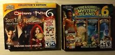 Treasures of Mystery Island/Ominous Paths PC Computer Game 6 Pack Lot of 2