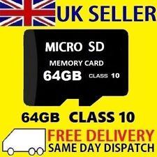 64GB Micro SD Card Class 10 TF Flash Memory SDHC SDXC - 64G
