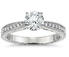 1.58 Cts Solitaire Diamond Engagement Anniversary Ring Solid 14k White Gold