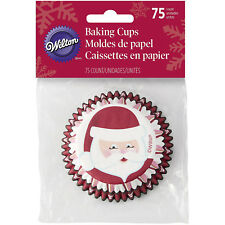 Wilton 75pc Santa Claus Red Christmas Standard Paper Cupcake Liner Baking Cups