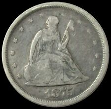 1875 S SILVER UNITED STATES SEATED LIBERTY TWENTY CENT PIECE VERY GOOD CONDITION