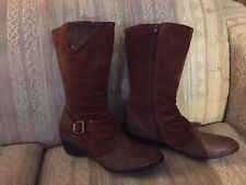 Taos 'Regent Slouch' Brown Suede Leather Knee Hi Boots Sz 11 US or 42 EU