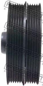 Crankshaft Pulley (Vibration Damper) FEBEST FDDS-001