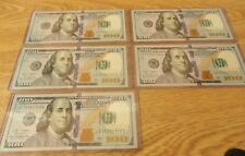 FIVE $100 FEDERAL RESERVE NOTES CONSECUTIVE NUMBERS 2009 A RICHMOND