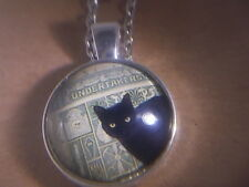"& Necklace "" New "" Awsome! Wicca - Black Cat Pendant"