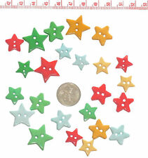 Novelty Christmas Buttons Stars Sewing Patchwork Scrapbook Quilting #92