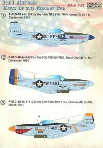 Print Scale Decals 1/32 F-51 MUSTANG Units of the Korean War