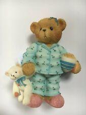 Very Rare Cherished Teddies 706639 Norma Pajamas Slippers Popcorn Teddy Bear 5