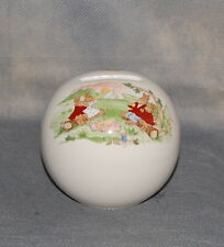 Royal Doulton Bone China Pottery Bunnykins Sphere Ball Child's Bank Picnic