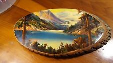 Vintage Painting on Wood made by The Cherokee Qualla Res. N.C. Numbered 263/3404