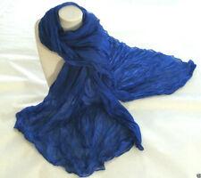 scarf crinkle bright blue women girl wrap shawl cotton fashion accessory