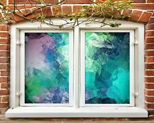 3D Mixed Color I444 Window Film Print Sticker Cling Stained Glass UV Block Amy