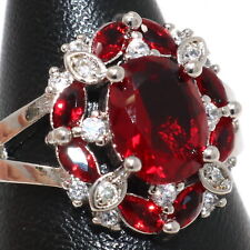 Vintage 2Ct Oval Ruby Ring Women Wedding Jewelry White Gold Plated Size 6 to 9