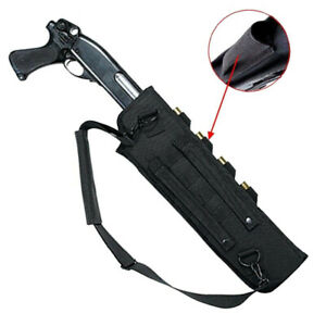 Tactical Molle Shotgun Rifle Scabbard Sling Case Bag Holster for Outdoor Hunting