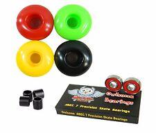 Blank Pro 52mm 99a Rasta Skateboard Wheels + Owlsome ABEC 7 Bearings