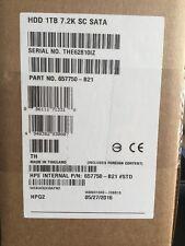 "HP GEN8 657750-B21 657763-002 657749-001 1TB SATA 7.2K 3.5"" Hard Drive W/ CADDY"