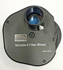 """OSTARA 5x MULTIPLE FILTER WHEEL FOR ASTRONOMICAL TELESCOPE 1.25"""""""