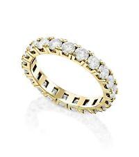 Eternity Love Ring Round Natural Diamonds 2.2Ct 14k Yellow Gold Wedding Birthday