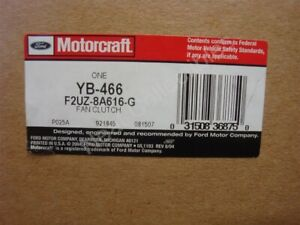 New Motorcraft 1992 - 96 E 150 E 250 E 350 Fan Clutch (without ac) 6Cyl 4.9