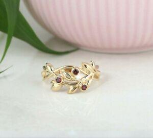 ADI PAZ 14K Gold Bezel Set Tourmaline Leaf Ring, Made in Israel