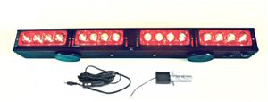 """21.5"""" Wireless LED Tow Light Bar Red Stop, Tail, Turn Signal with Magnetic Base"""