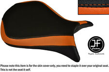 DESGN 3 BLACK ORANGE VINYL CUSTOM FOR KAWASAKI NINJA ZX6R 07-08 FRONT SEAT COVER